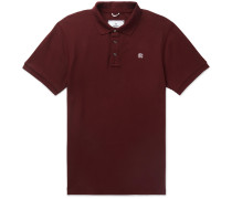Slim-fit Cotton-piqué Polo Shirt - Burgundy