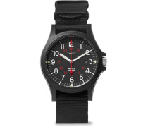 Acadia Resin And Grosgrain Watch - Black