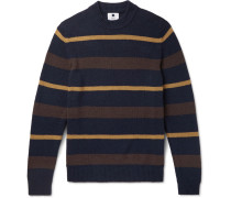 Martin Striped Knitted Sweater - Navy