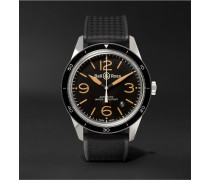 Br 123 Sport Heritage Automatic Steel And Rubber Watch