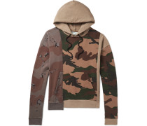 Panelled Camouflage-print Cotton-jersey Hoodie