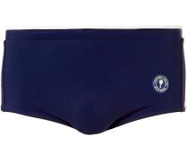 Sugna Logo-appliquéd Colour-block Swim Briefs - Navy