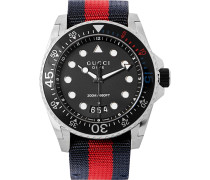 Stainless Steel And Webbing Watch - Black
