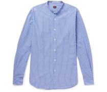Rodin Slim-fit Grandad-collar Striped Cotton Shirt
