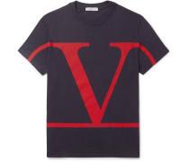 Logo-print Cotton-jersey T-shirt - Navy