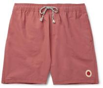 Long-length Cotton-blend Swim Shorts