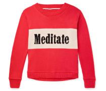 Meditate Intarsia Cashmere Sweater - Red