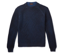 Mélange Cable-knit Virgin Wool Sweater