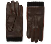 Leather Gloves - Dark brown