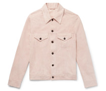 Suede Trucker Jacket - Pink