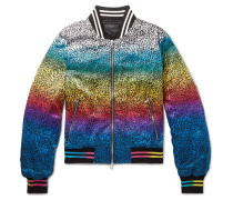 Printed Silk-satin Bomber Jacket - Multi