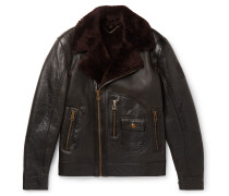 Danescroft Slim-Fit Shearling-Lined Leather Jacket