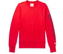 Logo-print Loopback Cotton-jersey Sweatshirt - Red