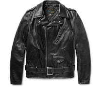 Perfecto Slim-fit Leather Biker Jacket - Black