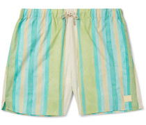 Perry Mid-length Striped Swim Shorts