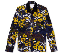 Floral-print Cotton-corduroy Shirt