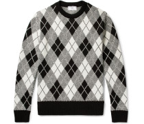 Argyle Jacquard-knit Sweater