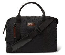 Evasion Leather-trimmed Jacquard And Ripstop Holdall - Black