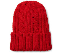 Cable Knit Virgin Wool Beanie