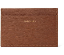 Panelled Textured-leather Cardholder