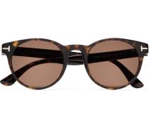 Palmer Round-frame Tortoiseshell Acetate Sunglasses