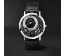Altiplano 38mm 18-karat White Gold And Alligator Watch