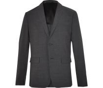 Clinton Charcoal Slim-fit Stretch Wool-blend Suit Jacket