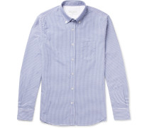 Antime Button-down Gingham Cotton Oxford Shirt