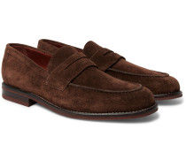 City Life Suede Penny Loafers