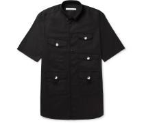 Columbian-fit Button-down Cotton-drill Shirt
