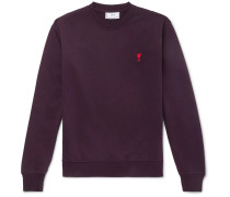 Logo-embroidered Loopback Cotton-jersey Sweatshirt - Burgundy