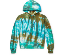 Oversized Tie-Dyed Loopback Cotton-Jersey Hoodie