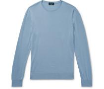 Slim-fit Wool Sweater - Blue