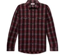 Checked Textured Wool-blend Shirt