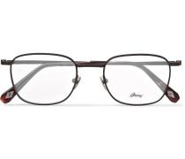 Square-frame Titanium Optical Glasses - Dark gray