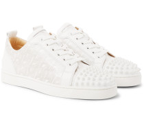 Louis Junior Spikes Printed Leather Sneakers