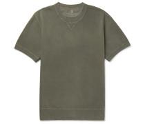 Garment-dyed Loopback Cotton-jersey Sweatshirt