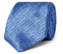 8cm Textured-silk Tie - Blue