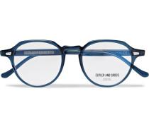 Hexagonal-frame Acetate Optical Glasses - Blue