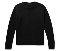 Christmas Light Palm Intarsia Cashmere Sweater - Black