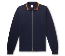 Cashmere Zip-Up Cardigan