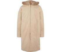 Faux Fur-lined Cotton-canvas Hooded Parka - Beige