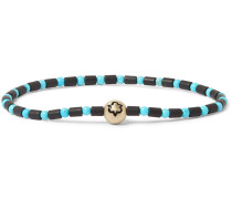 Trinity Bead, Enamel and Gold Bracelet