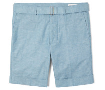 Julian Slim-fit Cotton-chambray Shorts