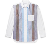 Panelled Cotton-Poplin Shirt