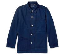 Indigo-dyed Cotton Chore Jacket - Indigo