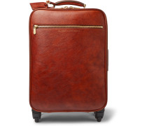Burnished-Leather Carry-On Suitcase
