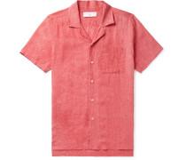 + 007 Thunderball Camp-collar Linen Shirt - Red