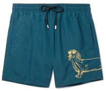 Moorea Mid-length Embroidered Swim Shorts