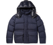 Glacier Quilted Shell Hooded Down Jacket
